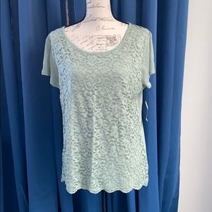 NEW YORK AND COMPANY OLIVE TOP XL, NWT